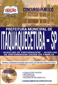 Apostila Concurso Prefeitura De Itaquaquecetuba Sp 2019
