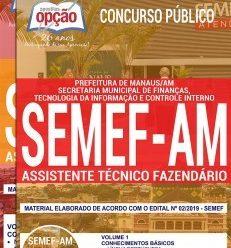 Apostila SEMEF AM 2019 PDF – Assistente Técnico Fazendário