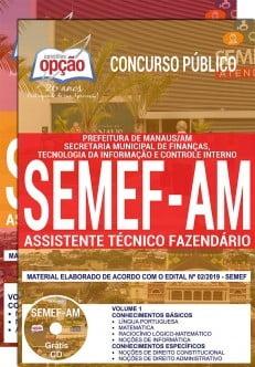 Apostila Semef Am 2019 Pdf Assistente Técnico Fazendário