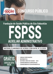 Apostila Fspss Sp 2020 Auxiliar Administrativo
