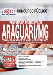 Apostila Prefeitura De Araguari Mg 2020 Comum Aos Cargos De Nível Médio E Técnico