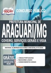 Apostila Prefeitura De Araguari Mg 2020 Coveiro Serviços Gerais E Vigia