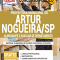 Apostila Prefeitura de Artur Nogueira – SP 2020 – Almoxarife e Auxiliar de Departamento