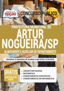 Apostila Prefeitura De Artur Nogueira Sp 2020 Almoxarife E Auxiliar De Departamento