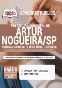 Apostila Prefeitura De Artur Nogueira Sp 2020 Comum Aos Cargos De Nível Médio E Superior