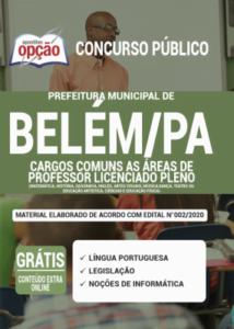 Apostila Prefeitura De Belém Pa 2020 Comum As áreas De Professor Licenciado Pleno