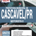 Apostila Prefeitura de Cascavel – PR 2020 – Motorista II