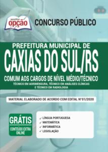 Apostila Prefeitura De Caxias Do Sul Rs 2020 Comum Aos Cargos De Nível Médiotécnico
