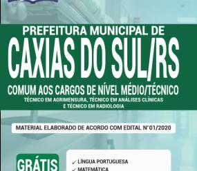 Apostila Prefeitura De Caxias Do Sul-Rs 2020 – Comum Aos Cargos De Nível Médio/Técnico