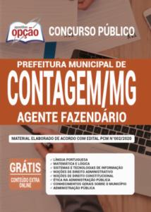 Apostila Prefeitura De Contagem Mg 2020 Agente Fazendário