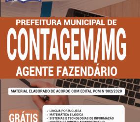 Apostila Prefeitura De Contagem – Mg 2020 – Agente Fazendário