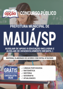 Apostila Prefeitura De Mauá Sp 2020 Auxiliar De Apoio à Educação Inclusiva E Auxiliar De Desenvolvimento Infantil I