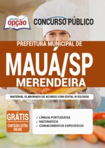 Apostila Prefeitura De Mauá Sp 2020 Merendeira