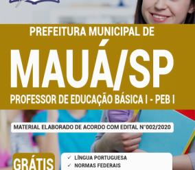 Apostila Prefeitura De Mauá – Sp 2020 – Professor De Educação Básica I – Peb I