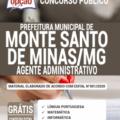 Apostila Prefeitura de Monte Santo de Minas – MG 2020 – Agente Administrativo