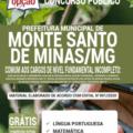 Apostila Prefeitura de Monte Santo de Minas – MG 2020 – Comum aos Cargos de Nível Fundamental Incompleto