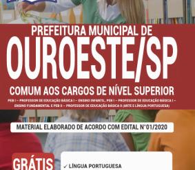 Apostila Prefeitura de Ouroeste – SP 2020 – Comum aos Cargos de Nível Superior