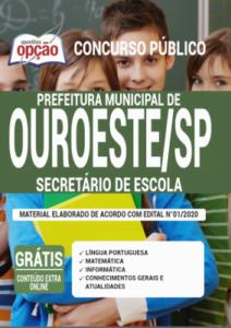 Apostila Prefeitura De Ouroeste Sp 2020 Secretário De Escola