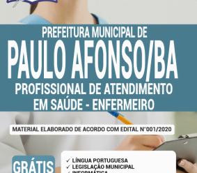 Apostila Prefeitura De Paulo Afonso – Ba 2020 – Profissional De Atendimento Em Saúde – Enfermeiro