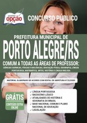 Apostila Prefeitura De Porto Alegre Rs 2020 Comum A Todas As áreas De Professor