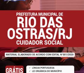 Apostila Prefeitura De Rio Das Ostras-Rj 2020 – Cuidador Social
