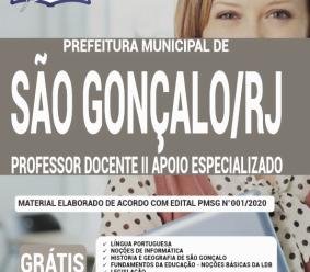 Apostila Prefeitura De São Gonçalo – Rj 2020 – Professor Docente Ii Apoio Especializado