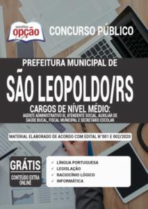 Apostila Prefeitura De São Leopoldo Rs 2020 Comum Aos Cargos De Nível Médio