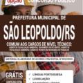 Apostila Prefeitura De São Leopoldo – Rs 2020 – Comum Aos Cargos De Nível Técnico