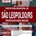 Apostila Prefeitura De São Leopoldo – Rs 2020 – Professor Anos Iniciais