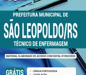 Apostila Prefeitura De São Leopoldo – Rs 2020 – Técnico De Enfermagem