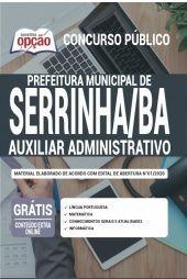 Apostila Prefeitura De Serrinha Ba 2020 Auxiliar Administrativo