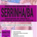 Apostila Prefeitura De Serrinha-Ba 2020 – Educador De Creche E Educador Auxiliar De Creche