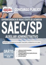 Apostila Saec Sp 2020 Auxiliar Administrativo