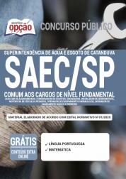 Apostila Saec Sp 2020 Comum Aos Cargos De Nível Fundamental