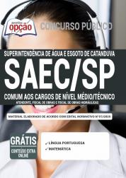 Apostila Saec Sp 2020 Comum Aos Cargos De Nível Médio E Técnico