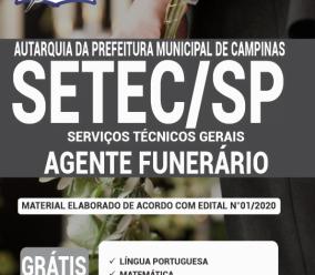 Apostila Setec-Sp 2020 – Agente Funerário