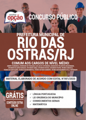 Apostila Prefeitura De Rio Das Ostras-Rj 2020 – Comum Aos Cargos De Nível Médio
