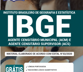 Apostila Ibge 2020 – Agente Censitário Municipal (Acm) E Agente Censitário Supervisor (Acs)