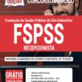 Apostila Fspss-Sp 2020 – Recepcionista