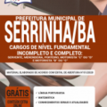 Apostila Prefeitura De Serrinha-Ba 2020 – Nível Fundamental Incompleto E Completo