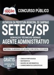 Apostila Setec-Sp 2020 – Agente Administrativo