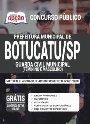 Apostila Prefeitura De Botucatu – Sp 2020 – Guarda Civil Municipal – (Feminino E Masculino)