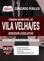 Apostila Câmara De Vila Velha – Es 2020 – Assessor Legislativo