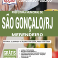 Apostila Prefeitura De São Gonçalo – Rj 2020 – Merendeiro