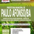 Apostila Prefeitura de Paulo Afonso – BA 2020 – Agente de Fiscalização Municipal – Agente de Fiscalização do Meio Ambiente e Serviços Públicos