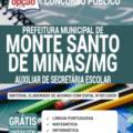 Apostila Prefeitura de Monte Santo de Minas – MG 2020 – Auxiliar de Secretária Escolar