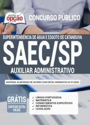 Apostila SAEC-SP 2020 – Auxiliar Administrativo