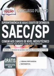 Apostila SAEC-SP 2020 – Comum aos Cargos de Nível Médio e Técnico