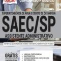 Apostila SAEC-SP 2020 – Assistente Administrativo